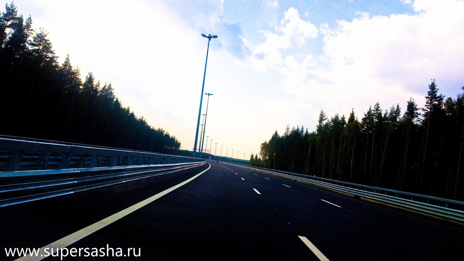 схема проезда по развязке выборгского шоссе и кад
